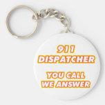 911 dispatcher-1 basic round button key ring