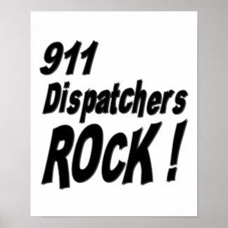 911 Dispatchers Rock! Poster Print