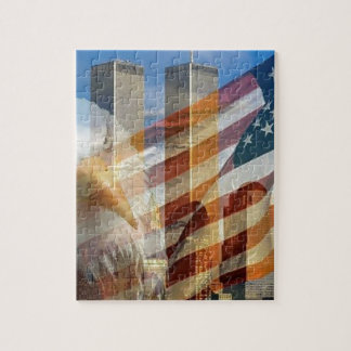 911 eagle flag towers jigsaw puzzle