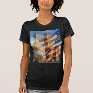 911 eagle flag towers T-Shirt