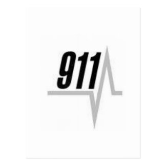 911 EKG strip Postcard