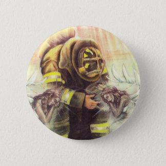 911 Fireman Angels 6 Cm Round Badge