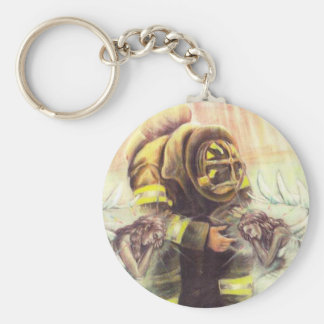 911 Fireman Angels Key Ring