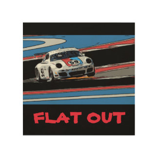 911 - FLAT OUT WOOD CANVAS