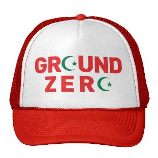 911 ground zero with islam muslim symbol sign cap