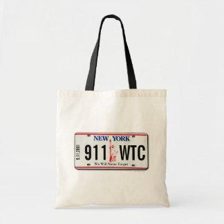 911 Memorial NY License Plate Bag