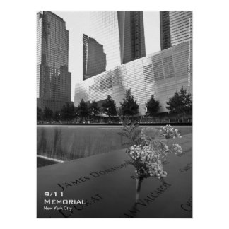 911 Memorial NYC Poster 18x24 BW5