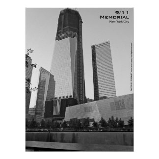 911 Memorial NYC Poster 18x24 BW8
