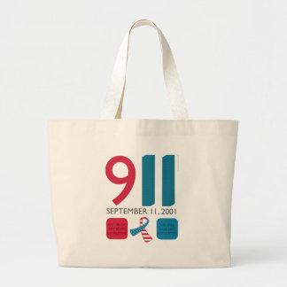 911 September 11 Memorial - Never Forget Jumbo Tote Bag