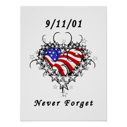 911 Tattoo Never Forget Posters