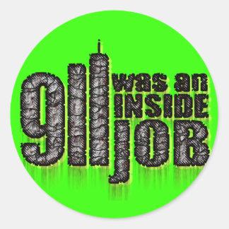 911 Was an Inside Job Round Sticker