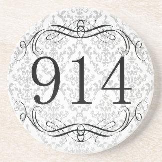 914 Area Code Beverage Coasters