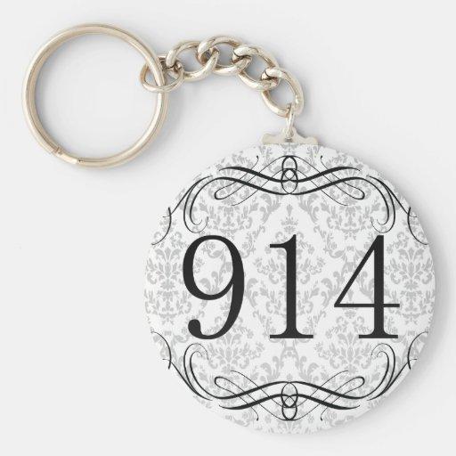 914 Area Code Key Chain