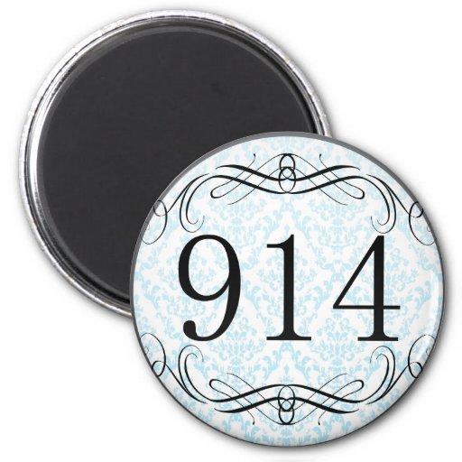 914 Area Code Refrigerator Magnet