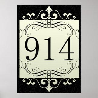 914 Area Code Print