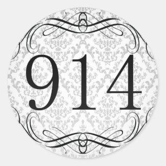914 Area Code Round Sticker