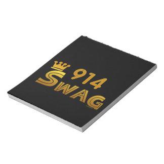 914 Area Code Swag Memo Notepad