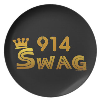 914 Area Code Swag Party Plates