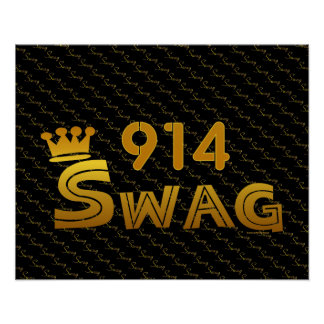 914 Area Code Swag Print