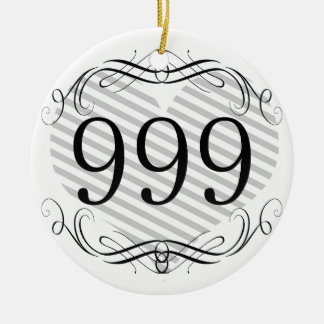 914 Double-Sided CERAMIC ROUND CHRISTMAS ORNAMENT