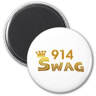 914 New York Swag 6 Cm Round Magnet