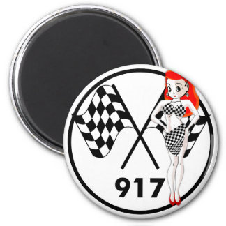 917 Peggy Pitstop 6 Cm Round Magnet