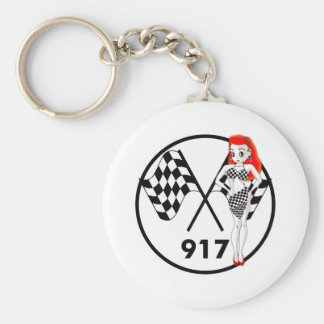917 Peggy Pitstop Basic Round Button Key Ring