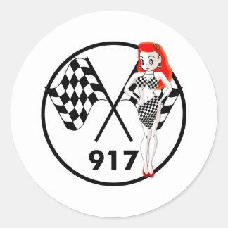 917 Peggy Pitstop Round Sticker