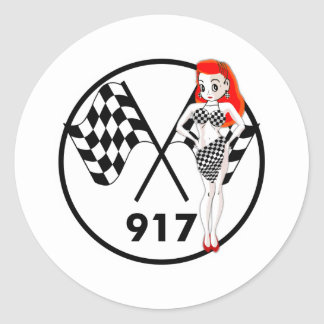 917 Peggy Pitstop Round Stickers