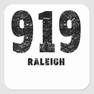919 Raleigh Distressed Square Sticker