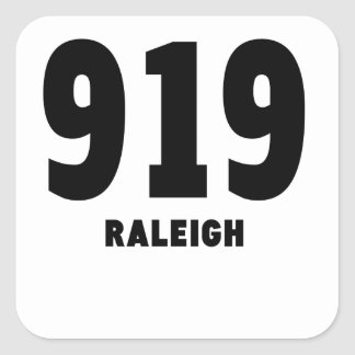 919 Raleigh Square Sticker