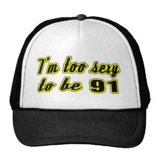 91 birthday designs trucker hats