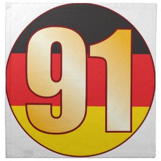 91 GERMANY Gold Napkin