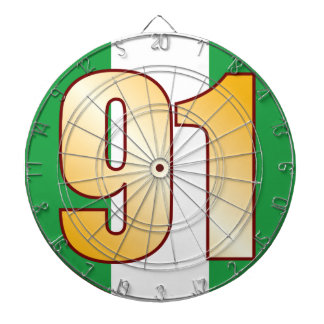 91 NIGERIA Gold Dartboard