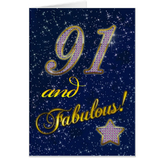 91st birthday for someone Fabulous Card