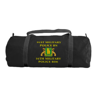 91ST MILITARY POLICE BATTALION GYM BAG GYM DUFFEL BAG