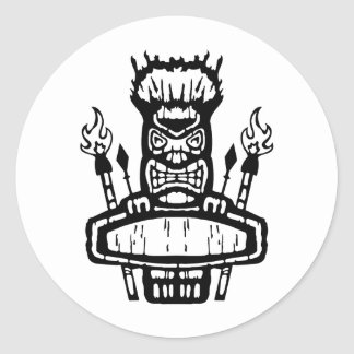 9213032011 Tiki (Rocker & Kustom) Classic Round Sticker