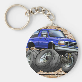 92-96 Blue Bronco Key Ring