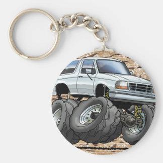 92-96 White Bronco Basic Round Button Key Ring