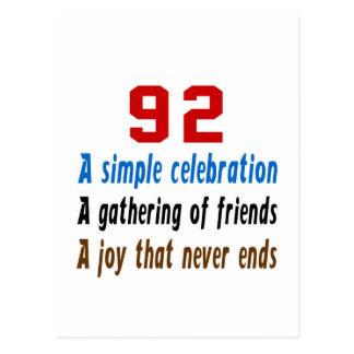 92 birthday designs postcard