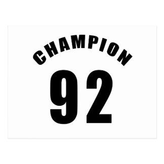 92 champion designs postcard