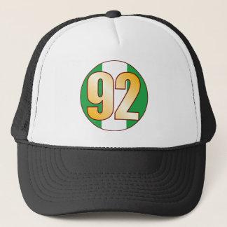 92 NIGERIA Gold Trucker Hat