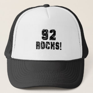 92 Rocks Birthday Designs Trucker Hat