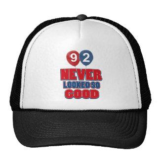 92 year old birthday designs cap