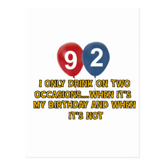 92 year old birthday designs postcards