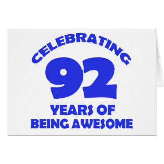 92 years old birthday designs greeting card
