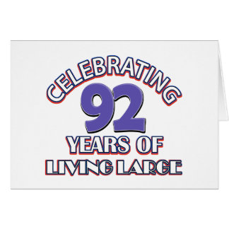 92 years  old design greeting card