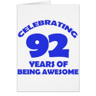 92ND birthday  designs Greeting Card