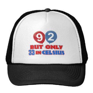 92nd birthday designs mesh hat