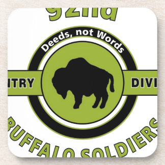 92ND INFANTRY DIVISION BUFFALO SOLDIERS BEVERAGE COASTER